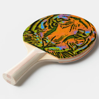 Raquette Tennis De Table TÊTE de TIGRE d'art de bruit + votre backgr. et