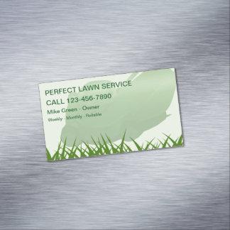 Rasen-mähende Geschäfts-Magneten Visitenkartenmagnet