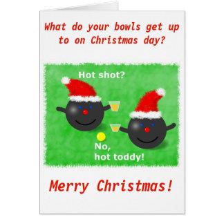 Rasen rollt, kurze Mattenschüsseln Weihnachtskarte Grußkarte