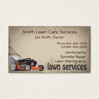 Rasen-Sorgfalt, die Service-Visitenkarte Visitenkarte