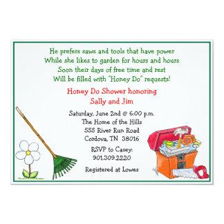 Rasen-und Garten-Brautparty-Einladung Karte