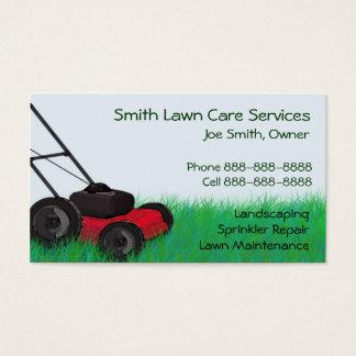 Rasen-Yard-Wartung Servies Visitenkarte