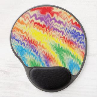 Rasende Regenbogen-Feuer-Linien Gel Mousepad