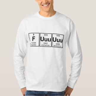 Raserei Fuuuuuu Periodensystem-Element-Symbole T-shirts