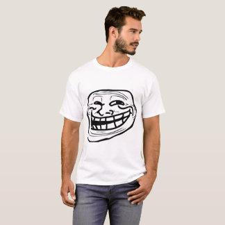 Raserei-Gesichts-Comic-lustiger Schleppangel-T - T-Shirt