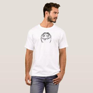 Raserei-Gesichts-Comic-lustiger T - Shirt