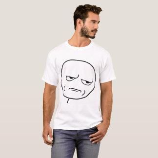 Raserei-Gesichts-Comic nein! T - Shirt