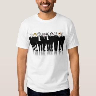 Raserei-Gesichts-Gruppe Meme Shirt