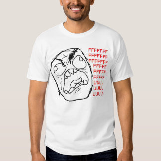 Raserei-Gesichts-T-Shirt Tshirt