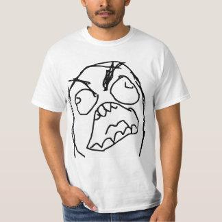Raserei-Typ verärgertes Fuu Fuuu Raserei-Gesicht T-shirts