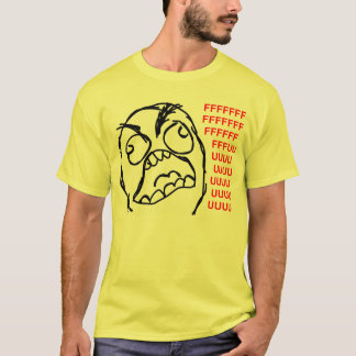 Rasereigesichtsraserei-Comic meme lol rofl T-Shirt