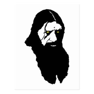 Rasputin--Schwarzes Postkarte