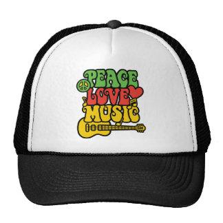 Rasta Frieden-Liebe-Musik Trucker Mützen