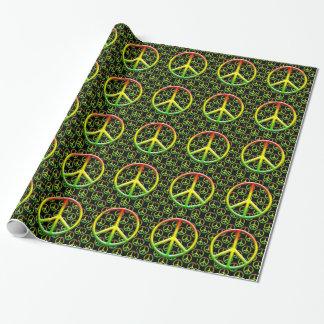Rasta Friedenszeichen-Muster Geschenkpapier