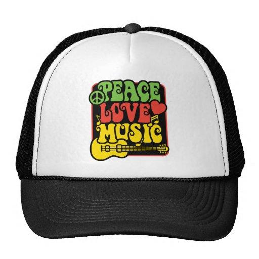 Rasta PEACE-LOVE-MUSIC Kappe