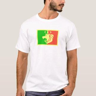 Rasta Reggae-Flagge mit gekröntem Löwe T-Shirt