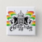 Rasta Reggae-königlicher Wappen-Knopf Quadratischer Button 5,1 Cm