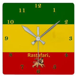 Rastafarian Bob Marley Regions-Wand-Uhr Quadratische Wanduhr