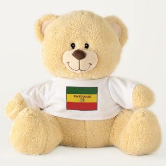 Rastafarian färbt angepassten Teddy-Bären