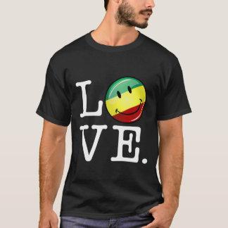 Rastafarian Liebe glückliche Rasta Flagge T-Shirt