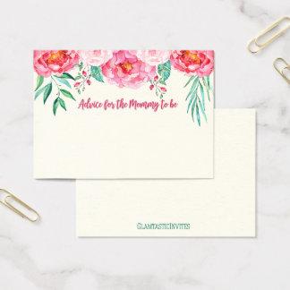 Rat für Mamma-Karte, Mamma-zu-ist, Blumenkarte Visitenkarte