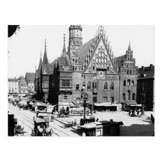Rathaus, Breslau Polen, c.1910 Postkarte