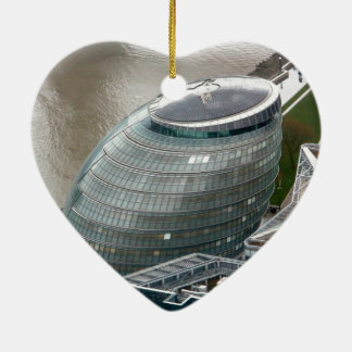 Rathaus London England Keramik Herz-Ornament