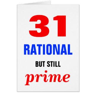 Rationaler aber ursprünglicher Geburtstag Karte