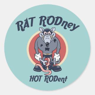 Ratte Rodney Runder Aufkleber