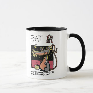 Ratte zerteilt den Chinesischen Tierkreis - Tasse