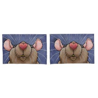 Ratten-Herz-Kissen-Hüllen Kissen Bezug