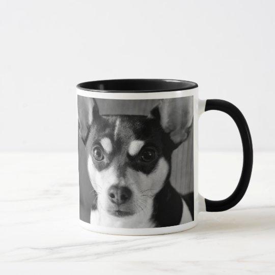 Ratten-Terrier, Schwarzweiss, Hundezucht-Tasse Tasse
