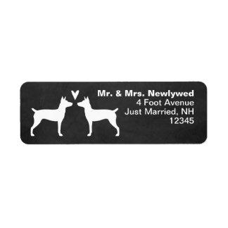 Ratten-Terrier-Silhouette-Liebe-Rücksendeadresse