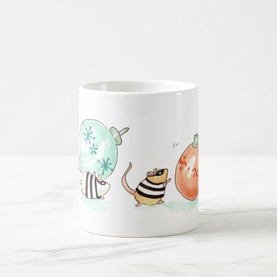 Räuber-Mäuseweihnachtsbewaffneter Raubüberfall Kaffeetasse