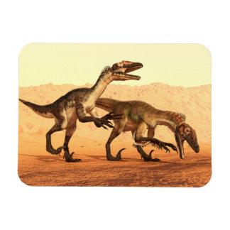 Raubvogel-Dinosaurier in der Wüste Magnet