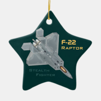 Raubvogel F-22 Keramik Ornament