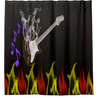 Rauchender Gitarren-Duschvorhang Duschvorhang