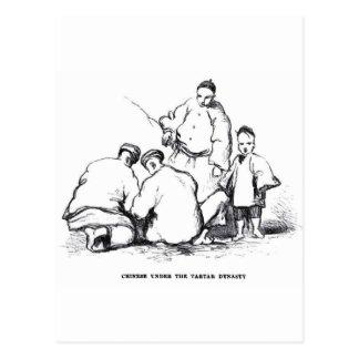 Rauchendes Opium Postkarte