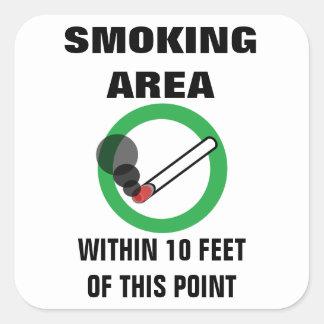 Raucherzone-Zeichen Quadratischer Aufkleber