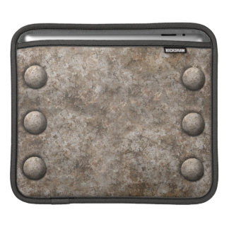Raue Entwurf iPad Hülse des Metallw/Rivets iPad Sleeves