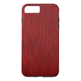 Rauer hölzerner Korn-Hintergrund - Rot iPhone 7 Plus Hülle
