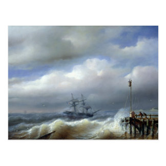 Raues Meer in stürmischem Wetter, 1846 Postkarte