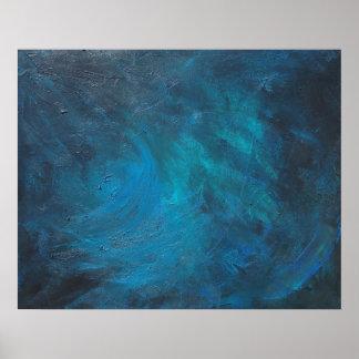 Raum-abstraktes Kunst-Plakat