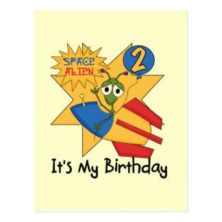 Raum-alien-2. Geburtstags-T - Shirts und Geschenke Postkarte