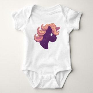 Raum-Einhorn Baby Strampler