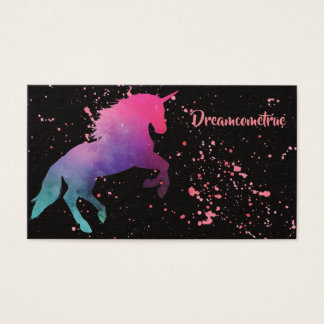 Raum-Galaxieabstraktes Unicorn-Spritzen Visitenkarte