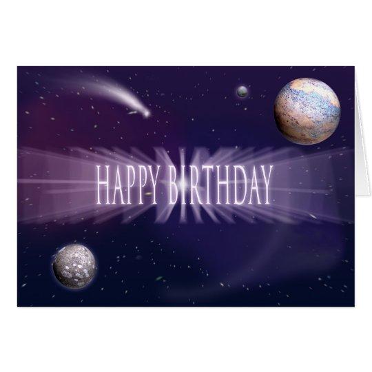 Raum-Geburtstag Karte