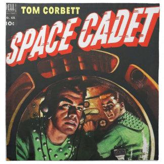 Raum-Kadetten in kleinem Rocket Serviette