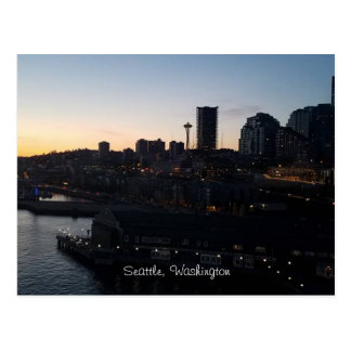 Raum-Nadel Seattles Washington nachts Postkarte