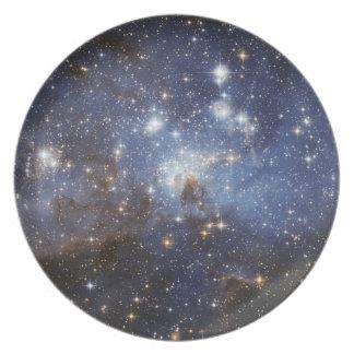 Raum-Platte 1 - Sterne Melaminteller